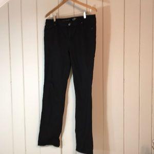 Loft black straight leg jeans, 32/14 tall